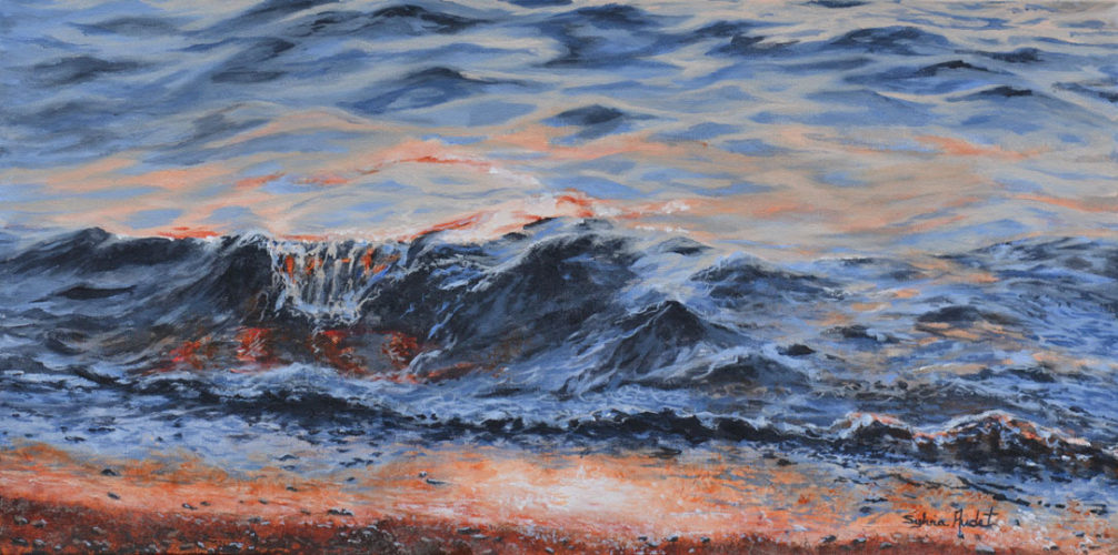 SMALL WAVE OF EVENING 15 X30