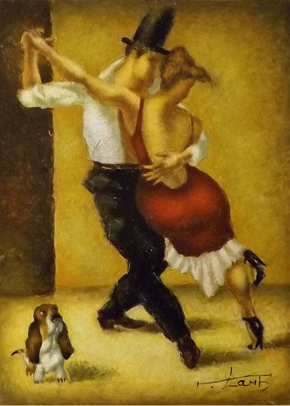 DANCING WITH A DOG 16X12