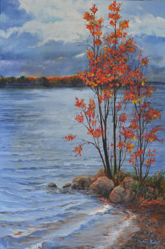 AUTUMN TO THE LAKE 36 X 24