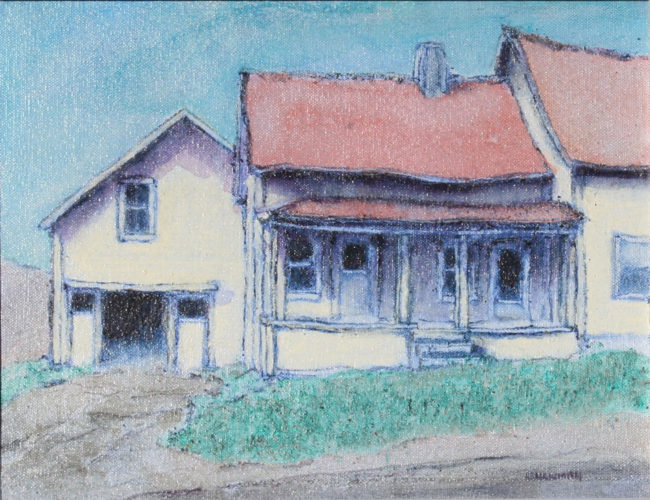 WHITE HOUSE AND BARN (CANAAN) 10X13