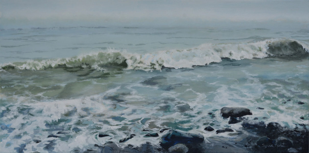 MISTY TIME ON THE SEA 18X36
